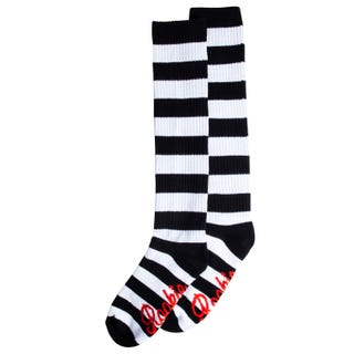 20'' Knee High Stripe Sock - Black/White